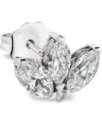 Maria Tash - White Gold And Diamond Invisible Set Lotus Stud Earring - Lyst