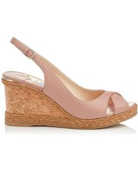 Jimmy Choo - Amely 80 Leather Wedges - Lyst