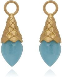 Annoushka - Yellow Gold And Aquamarine Earring Drops - Lyst