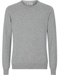 Johnstons of Elgin Cashmere Sweatshirt - Gray