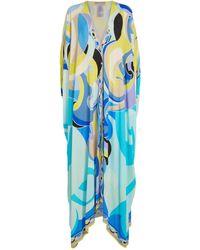 Emilio Pucci Maxi Sirens Song Kaftan Dress - Blue