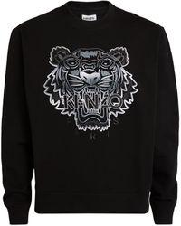 KENZO Gradient-embroidered Icon Tiger Sweatshirt - Black