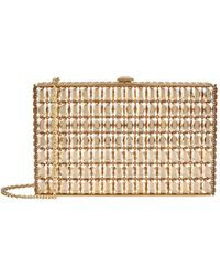 Judith Leiber Emerald Cut Crystal Rectangle Clutch - Metallic
