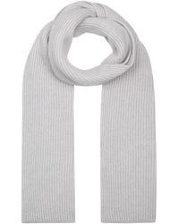 Harrods Cashmere Rib-knit Scarf - Natural