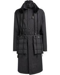 Craig Green Drawstring-detail Folded-collar Coat - Black