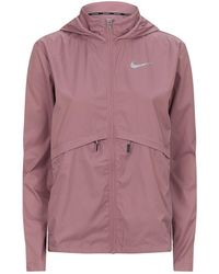 Lyst - Nike Running Essential Jacket in Black ee3de5d7a