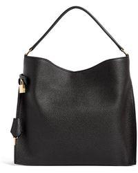 Tom Ford Leather Alix Hobo Bag - Black
