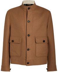 Brioni Vicuña-cashmere Coat - Multicolour