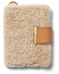Chaos Shearling Passport Cover - White