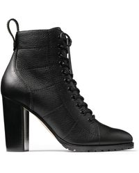 Jimmy Choo Cruz 95 Leather Boots - Black