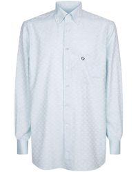 Stefano Ricci Faded Check Shirt - White