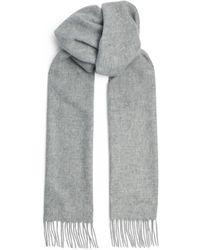 Harrods Cashmere Scarf - Grey