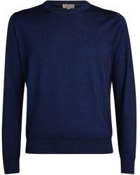 Canali - Wool-silk Sweater - Lyst