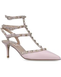 Valentino - Leather So Noir Rockstud Pumps 65 - Lyst