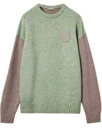Loewe Oversized Colour-block Jumper - Green