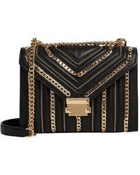 MICHAEL Michael Kors Large Leather Whitney Bag - Black