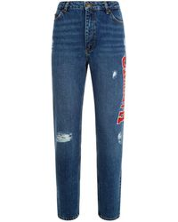 Sandro - Embroidered Slim Fit Jeans - Lyst