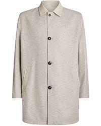 Kiton Cashmere Raincoat - Natural