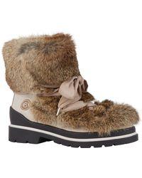 Bogner Rabbit Fur St. Moritz Boots - White