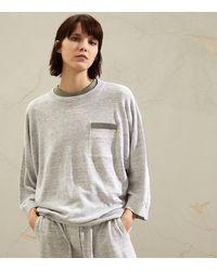 Brunello Cucinelli Linen-cotton Sweater - Grey