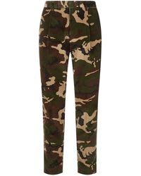Moncler - Camouflage Corduroy Trousers - Lyst