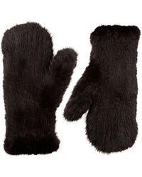 Moncler - Wool Logo Gloves - Lyst
