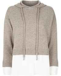 Max & Moi Relax Cashmere Shirt Hoodie - Natural