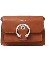 Jimmy Choo Small Leather Madeline Cross-body Bag - Brown