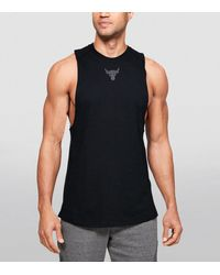Under Armour Project Rock Charged Cotton Tank Top - Black