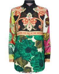 Etro Silk Floral Shirt - Green