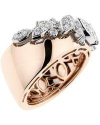 YEPREM - Rose Gold Wide Ring - Lyst