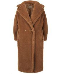 Max Mara - Silk-camel Teddy Coat - Lyst