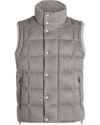 Kiton Quilted Wool Gilet - Grey