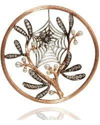 Annoushka   Hoopla Spider Web Pendant, Gold, One Size   Lyst