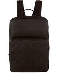 Bottega Veneta | Intrecciato Weave Leather Backpack, Black, One Size | Lyst