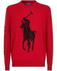 Ralph Lauren Polo Pony Sweater - Rot