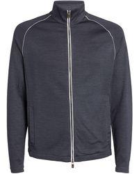 Canali Zip-up Sweatshirt - Blue