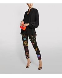 Stella McCartney Christine Silk Tapered Pants - Black