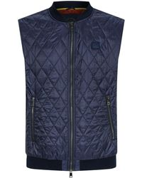Paul & Shark - Contrast Lining Quilted Gilet - Lyst