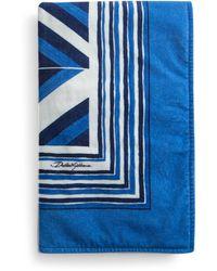 Dolce & Gabbana Geometric Print Beach Towel - Blue