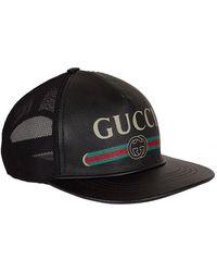 5541f3e60 Leather Logo Baseball Cap - Black