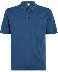 Sunspel Jersey Polo Shirt - Blue