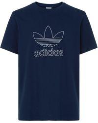 adidas Originals - Outline Logo T-shirt - Lyst
