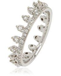 Annoushka Crown 18ct White Gold Diamond Ring - Metallic