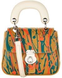 Burberry - Mini Splash Dk88 Top Handle Bag, Yellow - Lyst