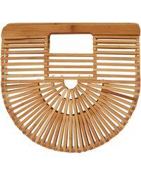 Cult Gaia Mini Bamboo Ark Bag - Brown