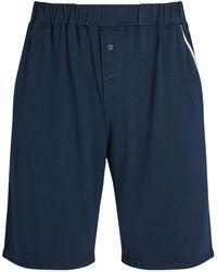 Homebody Contrast-pocket Shorts - Blue