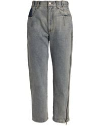 3.1 Phillip Lim Zip-embellished Straight Jeans - Blue