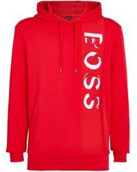 BOSS by Hugo Boss Logo Hoodie - Red