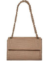 Nancy Gonzalez Crocodile Madison Shoulder Bag - Natural